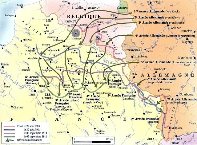 9. Kaart Duitse inval 1914 (640x472)