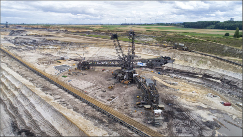 Bruinkool winning in Duitsland