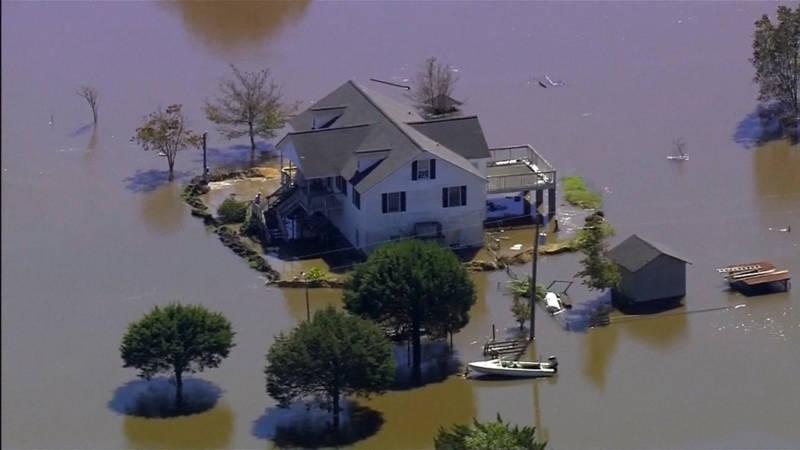 Overstromigen Carolina van Orkaan Matthew