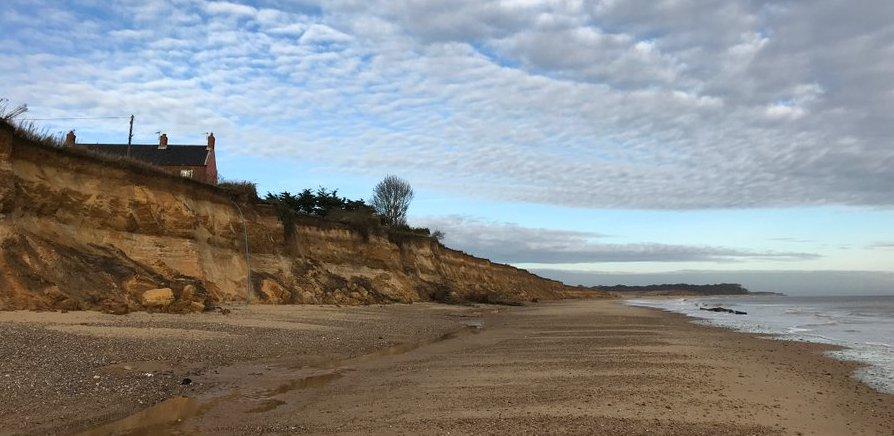 Erosie aan de Engelse rotskust
