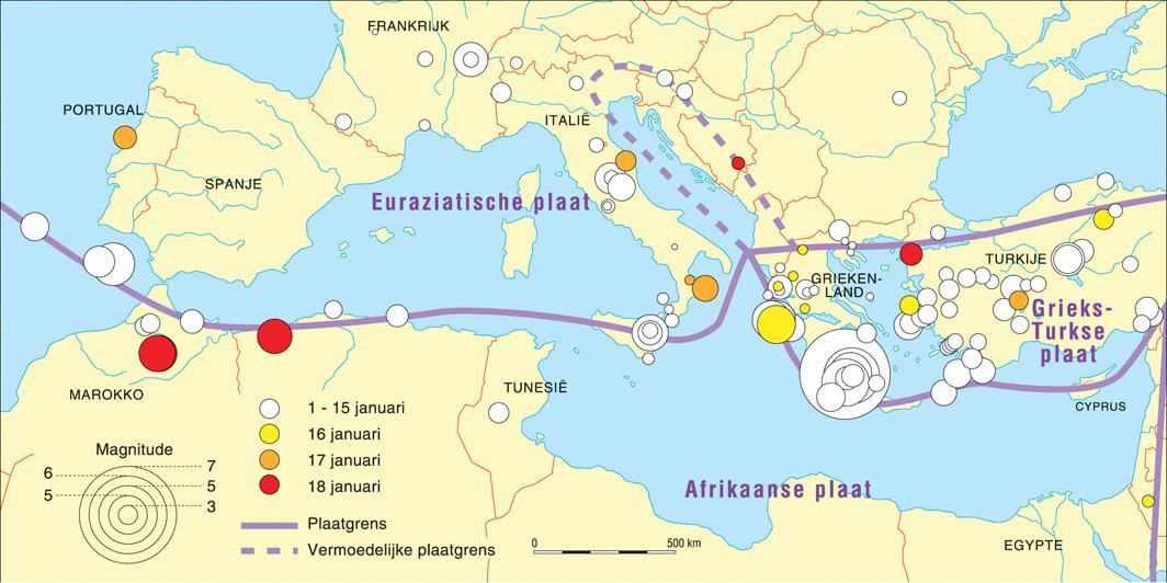 afrika zeeën en rivieren kaart