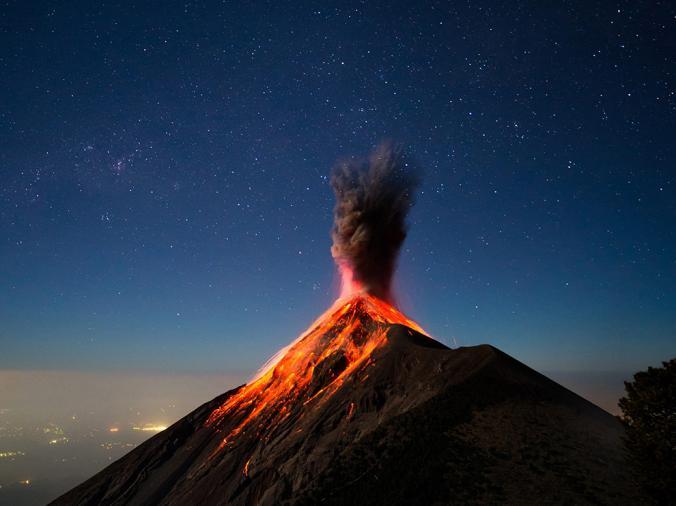 Fuego vulkaan Guatemala