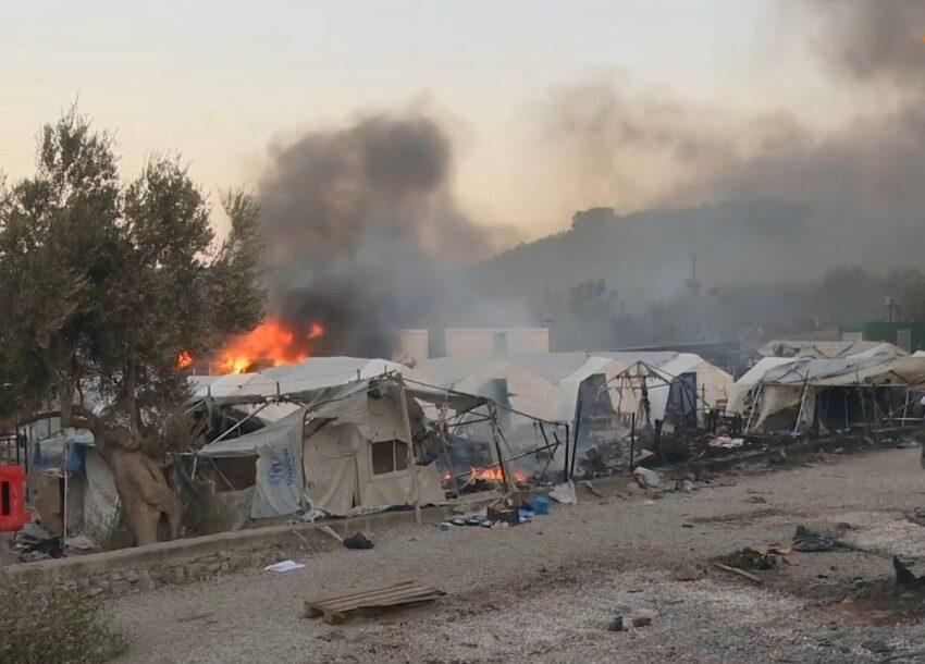 Crisis in vluchtelingenkamp Lesbos