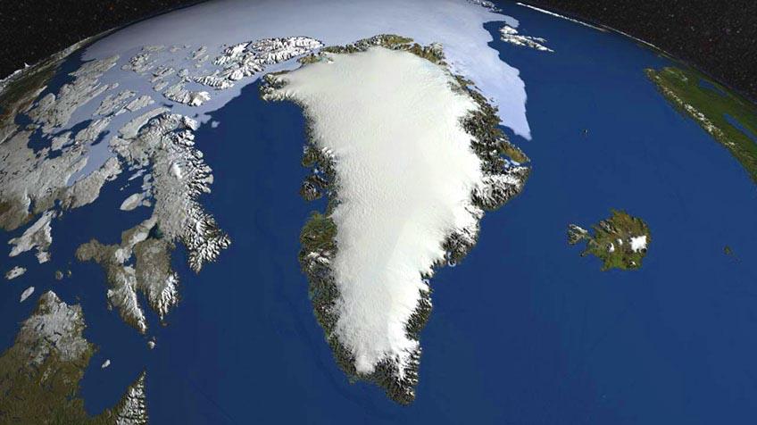 De ijskappen op Groenland