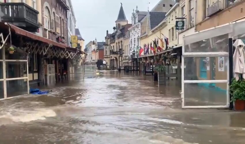 Hoogwater in Zuid Limburg