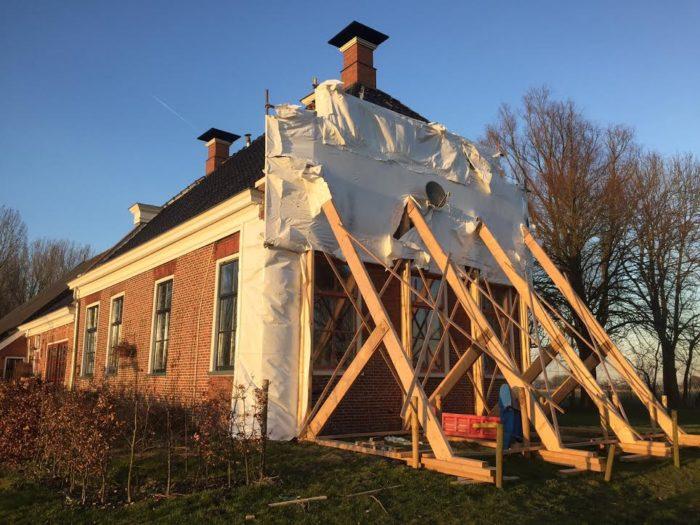 Huis in de Provincie Groningen met aardbeving schade