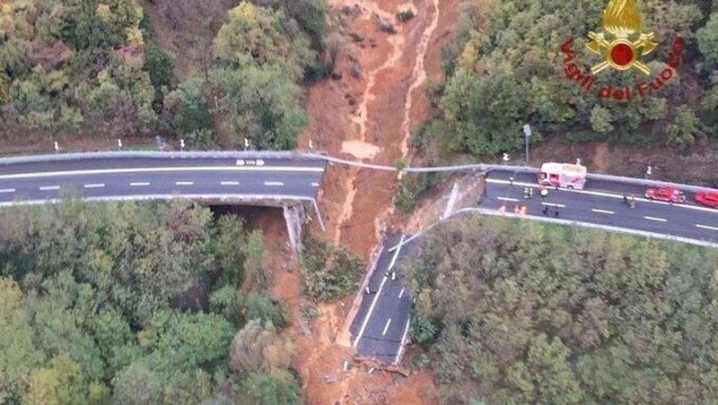 Landslide Italie na hevige regens