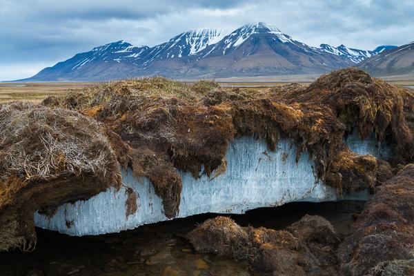Permafrost nabij Spitsbergen