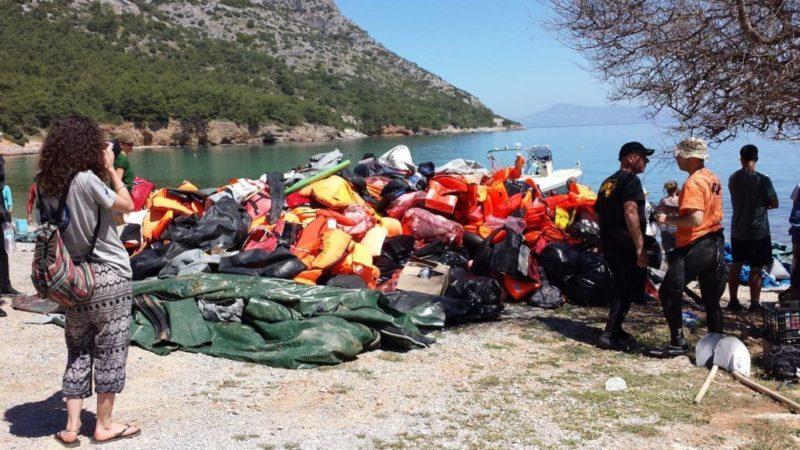 Op weg naar Europa gestrand een grieks eiland