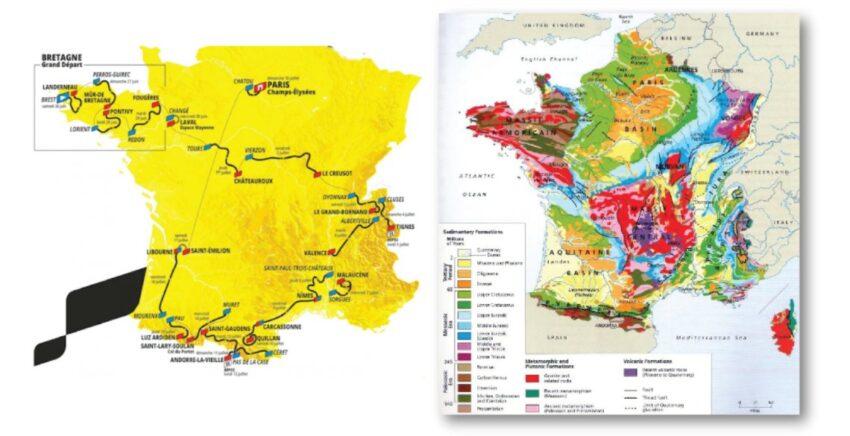 De Geologie van de Tour de France