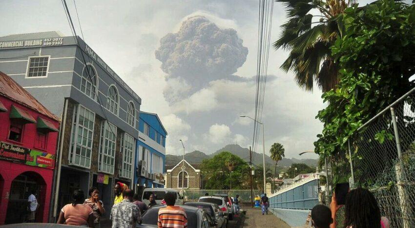 Uitbarsting La Soufriere