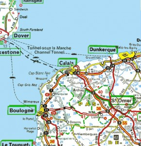 dover-to-calais-road-map