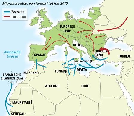 Afbeeldingsresultaat voor migratiestromen